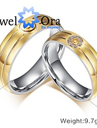 cheap -Women's Band Ring Groove Rings Gold Gold / White Platinum Plated Steel Fashion Party Jewelry