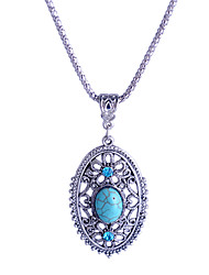 cheap -Women's Crystal Pendant Necklace Ladies Luxury European Crystal Rhinestone Imitation Diamond Light Blue Necklace Jewelry For Party Daily Casual