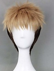 cheap -Cosplay Costume Wig Synthetic Wig Straight kinky Straight kinky straight Straight Asymmetrical Wig Blonde Short Rainbow Synthetic Hair Men's Natural Hairline Blonde Black