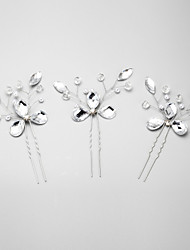 cheap -Crystal / Imitation Pearl / Rhinestone Hair Pin with 1 Wedding / Special Occasion Headpiece