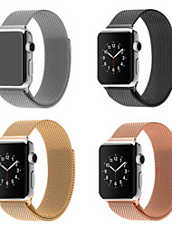 cheap -Milanese Loop Band for Apple watch 44mm 40mm 42mm 38mm Link Bracelet Strap Stainless Steel Mesh Metal Loop with Adjustable Magnetic Closure Replacement Bands Compatible with Iwatch Series 5 4 3 2 1