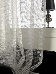 abordables -les rideaux purs d'économie d'énergie faits sur commande ombragent deux panneaux / jacquard / salon