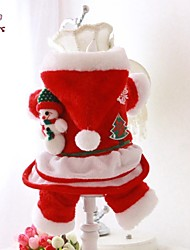 cheap -FUN OF PETS® Winter Nobel Santa Claus Christmas Pets Costume with Toy Snowman  Dog Clothes for Pets Dogs Clothing