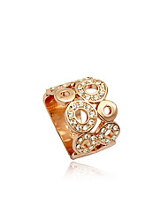 cheap -Women's Statement Ring Crystal Silver Golden Crystal Silver Plated Imitation Diamond Luxury European Fashion Party Daily Jewelry Hollow / Alloy