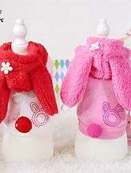 cheap -Cat Dog Coat Hoodie Winter Dog Clothes Red Pink Costume Polar Fleece Cotton Cartoon Cosplay Wedding XS S M L XL
