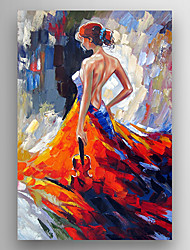 cheap -Oil Painting Hand Painted - Famous Modern Stretched Canvas