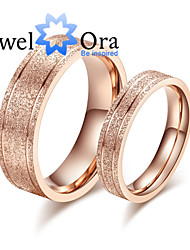 cheap -Women's Band Ring Rose Gold Steel Fashion Party Jewelry