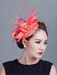 cheap -Women Wedding Party Sinamay Feather Fascinators Hats