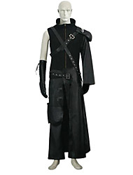 cheap -Inspired by Final Fantasy Cloud Strife Anime Cosplay Costumes Japanese Cosplay Suits Solid Colored Sleeveless Leotard / Onesie Top Pants For Unisex / Shoulder Armor / Shoulder Armor
