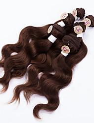 cheap -Brazilian Hair Body Wave Human Hair Natural Color Hair Weaves / Hair Bulk Human Hair Weaves Human Hair Extensions / 8A