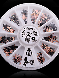 cheap -1box 240pcs soft metal nail art decorations kits