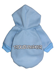 cheap -Cat Dog Hoodie Puppy Clothes Letter & Number Fashion Winter Dog Clothes Puppy Clothes Dog Outfits Blue Costume for Girl and Boy Dog Cotton XS S M L