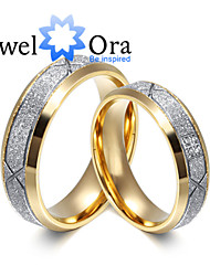 cheap -Women's Band Ring spinning ring Gold Gold / White Platinum Plated Steel Fashion Party Jewelry