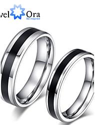 cheap -Women's Band Ring Black / White Black / White Titanium Steel Steel Ladies Fashion Party Jewelry