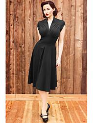 cheap -Classic Lolita Dress Women's Japanese Cosplay Costumes Black / Red / Green Print Sleeveless Medium Length