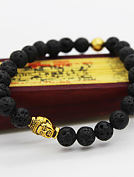 cheap -Black Lava Beads Beads Bead Bracelet Buddha Ladies Unique Design Vintage Casual Beaded Bracelet Jewelry Black For Christmas Gifts Daily Casual