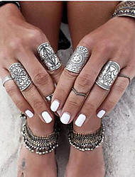 cheap -Jewelry Set Artisan Silver Alloy Flower Ladies Unusual Asian / Women's