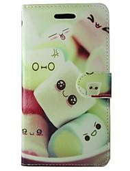 Недорогие -Кейс для Назначение Apple iPhone 7 Plus / iPhone 7 Кошелек / Бумажник для карт / со стендом Чехол Продукты питания Твердый Кожа PU