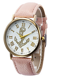 Недорогие -Жен. Наручные часы Кварцевый Кожа Черный / Белый / Коричневый Горячая распродажа Аналоговый Дамы Кулоны Мода - Коричневый Зеленый Розовый
