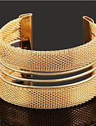 cheap -Women's Cuff Bracelet Wide Bangle Hollow Ladies Classic Open Alloy Bracelet Jewelry Gold For Daily Casual