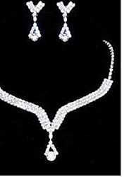 cheap -Jewelry Set Ladies Party Cubic Zirconia Earrings Jewelry White For Wedding Masquerade Engagement Party Prom Promise / Necklace