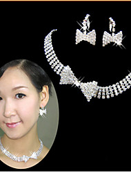 cheap -Rich Long Women's All Matching Luxury Silver Plated Necklace & Earrings Jewelry Sets