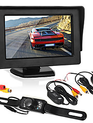 cheap -4.3 inch Wirless Car Monitor LED license camera/wireless transmitter and receiver Wirless Parking Rearview System with Backup Reverse Camera for RV