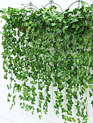 cheap -Branches Wreathed with Vines Artificial Flowers Plants Plastic Pastoral Style Vine Wall Flower Vine 2PCS 90cm*16cm
