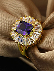 cheap -Women's Band Ring Purple Gold Plated Fashion Elegant Party Jewelry