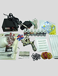 cheap -BaseKey Tattoo Machine Starter Kit, 1 pcs Tattoo Machines with 7 x 10 ml tattoo inks - 1 alloy machine liner & shader