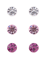 cheap -Women's Crystal Stud Earrings Ladies Fashion Crystal Imitation Diamond Earrings Jewelry Black / Pink For Party Daily Casual