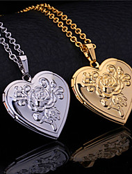 cheap -Women's Pendant Engraved Princess Heart Best Friends Friendship Ladies Sister Gold Plated Silver-Plated Alloy Gold Silver Necklace Jewelry For Wedding Party Special Occasion Anniversary Birthday