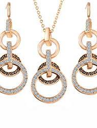 cheap -Women's Cubic Zirconia Jewelry Set Earrings / Necklace - Party / Work Screen Color For