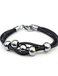 cheap -Leather Bracelet Vintage Casual Leather Bracelet Jewelry Black / Brown For