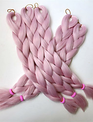 cheap -Cross Type Human Hair Extensions Jumbo Synthetic Hair Kanekalon High Temperature Fiber Crochet Hair Braids