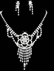 cheap -Lucky Doll Women's Elegent Stack Gem Earring And Necklace Jewelry Sets