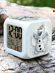 cheap -High Quality Creative Colorful Small Alarm Clock LED Electronic Gifts / Cartoon Alarm Clock