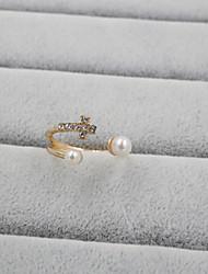 cheap -Band Ring Pearl Pearl Rhinestone Imitation Diamond Cross Ladies Luxury Open / Women's / Alloy