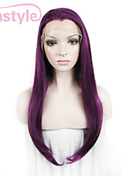 cheap -Synthetic Lace Front Wig Straight Straight Lace Front Wig Purple Synthetic Hair Women's Purple