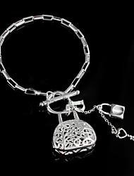 cheap -Women's Chain Bracelet Fashion Sterling Silver Bracelet Jewelry Silver For Wedding Party Daily Casual