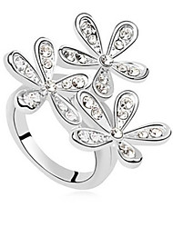 cheap -Statement Ring Crystal Silver Golden Rhinestone Alloy Ladies Wedding Party Jewelry Snowflake