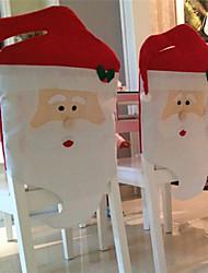 abordables -2pcs 2015 nouvelle mode chaise santa clause de chapeau rouge couvre la maison dîner de Noël décoration de table de fête pour Noël