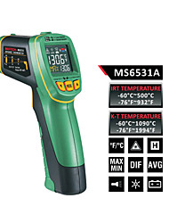 cheap -MASTECH MS6531A Color Screen Infrared Thermometer(-60℃ To 500℃) K type temperature probe can be connected