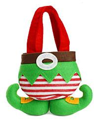 cheap -Hot Sale Fashion Christmas Santa Pants Elf Spirit Candy Bags Xmas Decoration Sack Cute Child Gift Soft Cloth Red