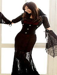 cheap -Halloween Party Dress Vampires Scary Ghost Bride Nun Cosplay Party Dress DS Costumes