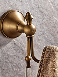 cheap -Robe Hook High Quality Antique Brass 1 pc - Hotel bath