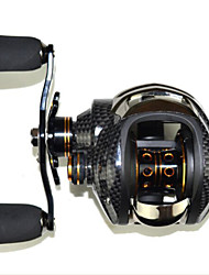 cheap -Fishing Reel Baitcasting Reel 6.3:1 Gear Ratio+14 Ball Bearings Left-handed Sea Fishing / Bait Casting / Ice Fishing - LB200-Left / Jigging Fishing / Freshwater Fishing / Carp Fishing / Bass Fishing