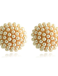cheap -Women's Stud Earrings Seed Pearls Ladies Pearl Gold Plated Earrings Jewelry Golden For Party Daily Casual
