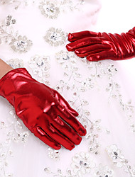 cheap -Spandex Wrist Length Glove Bridal Gloves Party/ Evening Gloves