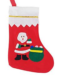 Недорогие -6шт 2015 продажа Рождество большой аппликацией носок (случайный цвет)